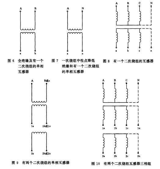 电压互感器图形符号2