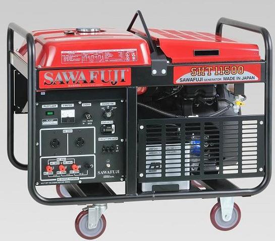 日本泽藤本田三相10kw汽油发电机sht11500has